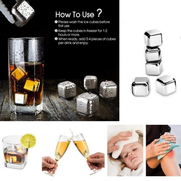 P028Z stainless whisky stone